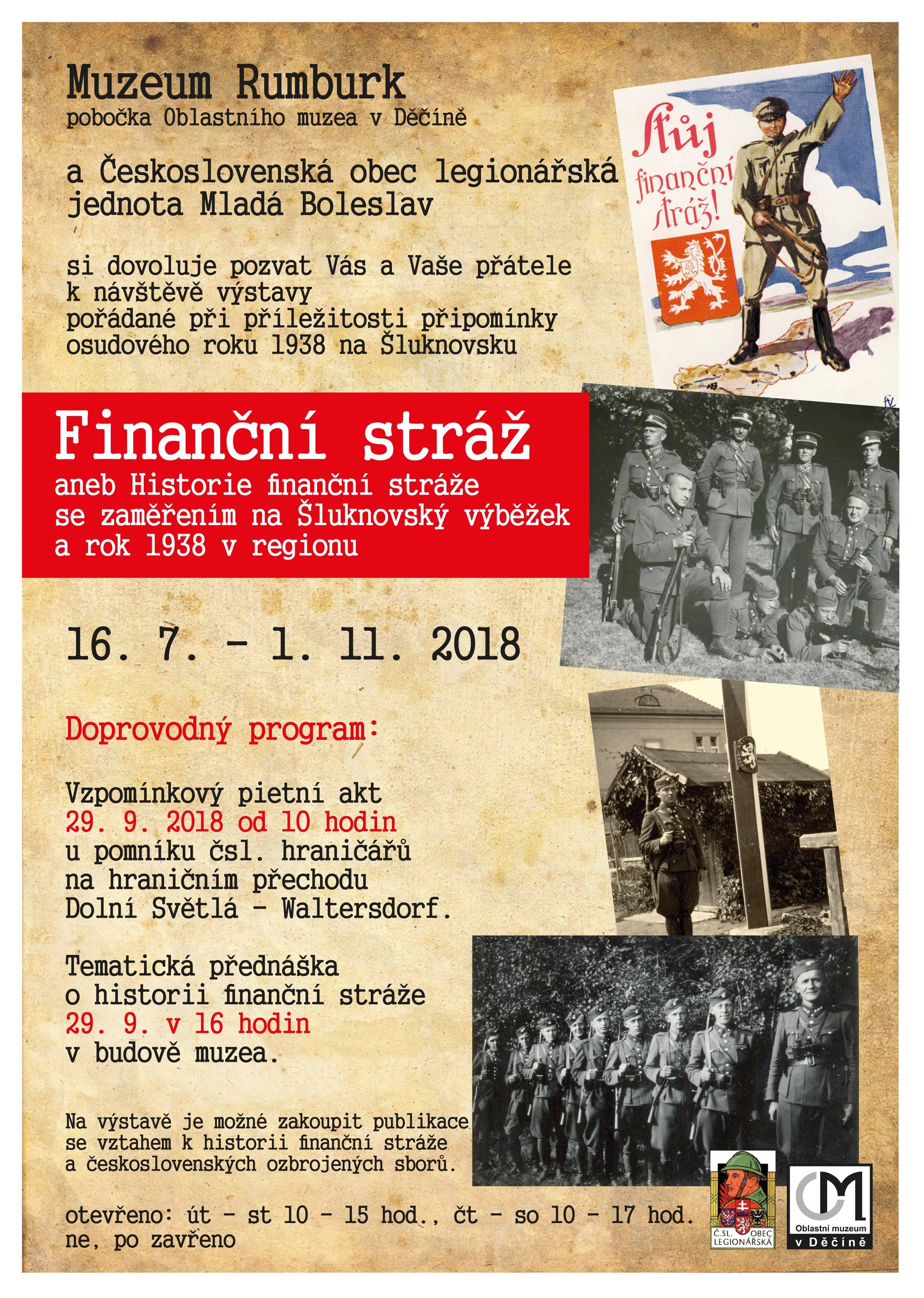 Finanční stráž aneb Historie finanční stráže se zaměřením na Šluknovský výběžek a rok 1938 v regionu