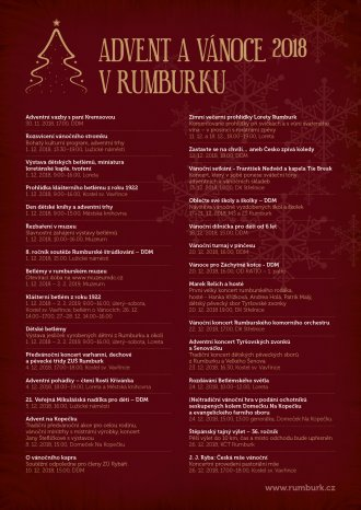 ADVENT A VÁNOCE 2018 V RUMBURKU