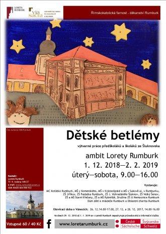 Výstava dětských betlémů v Loretě Rumburk 2018/2019