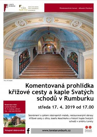 Komentovaná prohlídka křížové cesty a kaple Svatých schodů 2019 v Rumburku