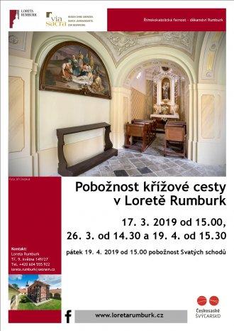 Pobožnost Svatých schodů 2019 v Loretě Rumburk