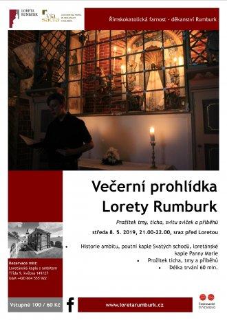 Květnová večerní prohlídka Lorety při svíčkách