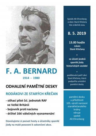 Odhalení pamětní desky F. A. Bernardovi - pilotovi RAF