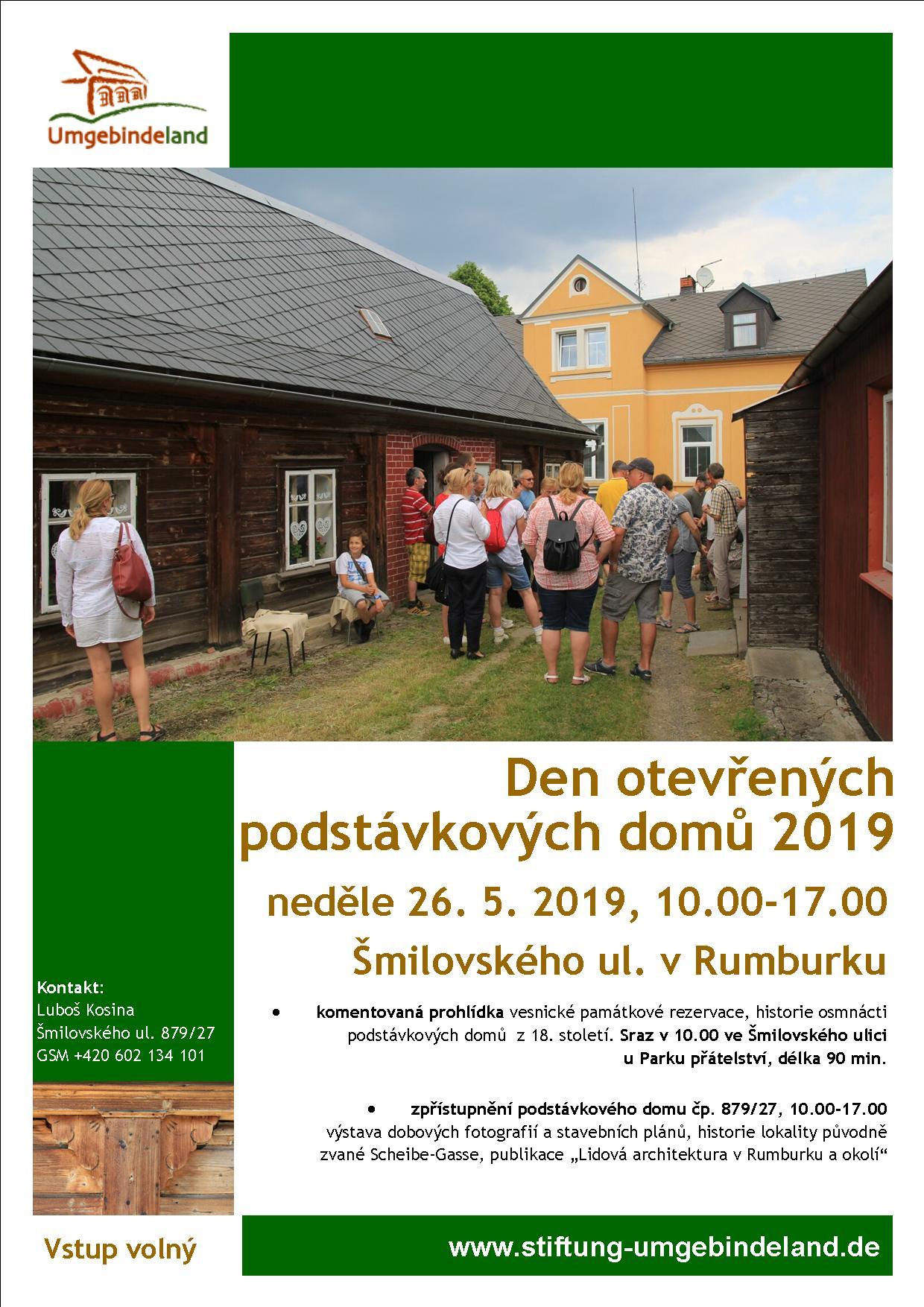 Den otevřených podstávkových domů 2019 v Rumburku