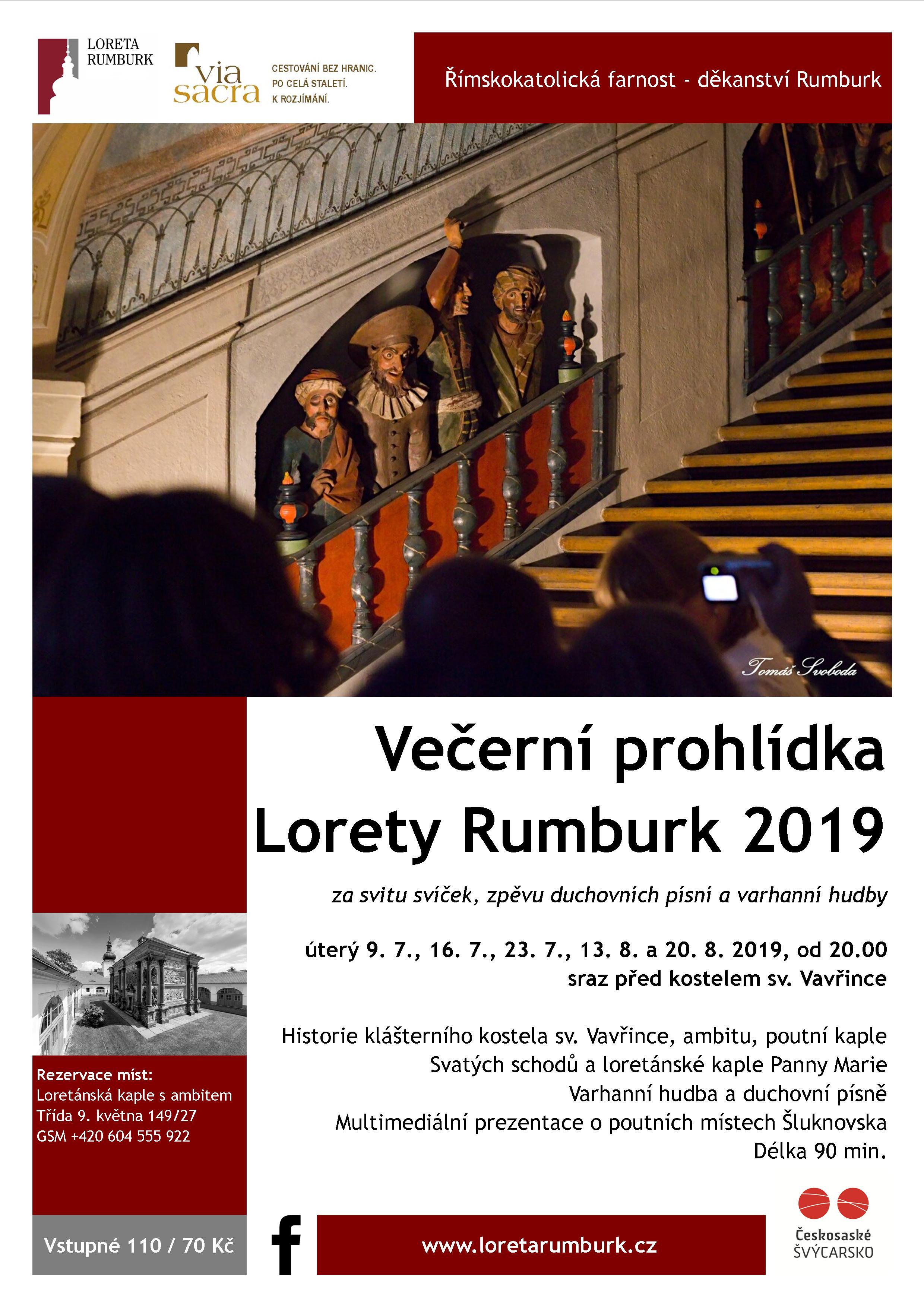 Večerní prohlídky Lorety Rumburk při svíčkách 2019