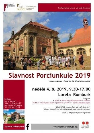 Odpustková církevní slavnost Porciunkule 2019 v Rumburku