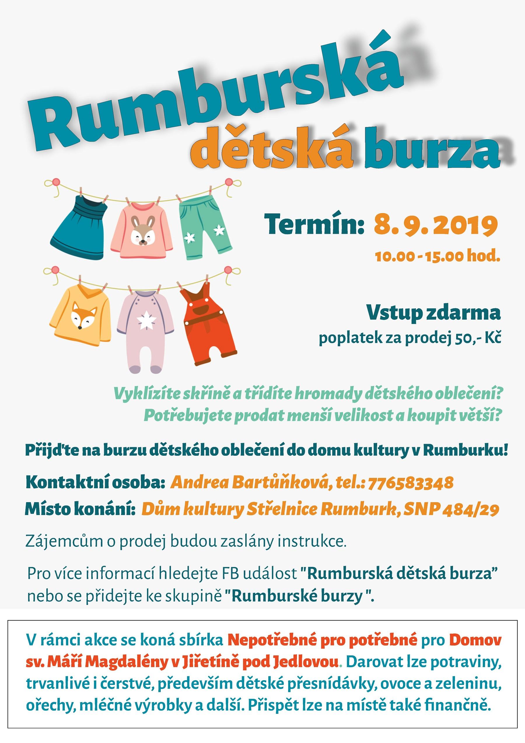 RUMBURSKÁ DĚTSKÁ BURZA