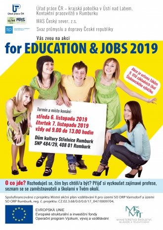 FOR EDUCATION AND JOBS 2019